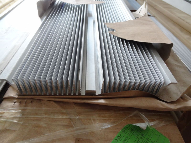 Aluminum extrusion is made to the custom drawing