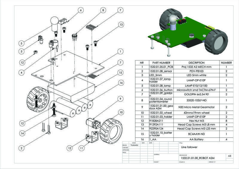 Final assembling drawing shows all necessary mechanical components of the device