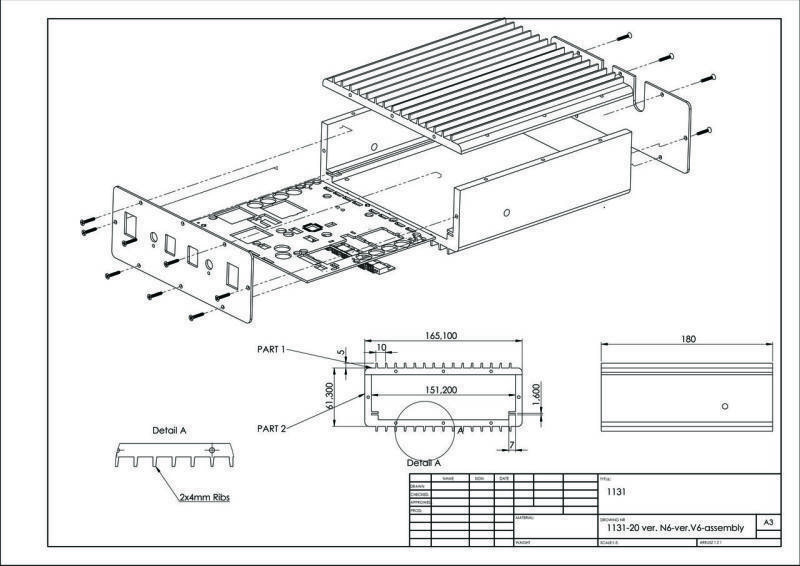 The Solid Work CAD mechanical design platform creates all metal and plastic enclosures for designed electronic devices